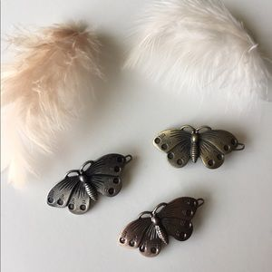 Metal Butterfly Hair Clips Set 🦋